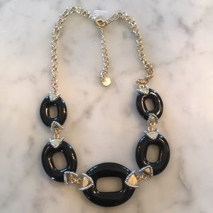NWOT Talbots Black and gold necklace with silver
